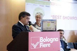 "ESAGONO si aggiudica il ""Best Showroom Award 2012 – Cersaie"""